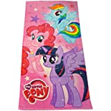 Herding 613624516 Velourshandtuch My little Pony, 75 x 150 cm, 100 % Baumwolle, bedruckt