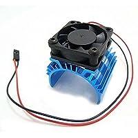 SODIAL Disipador de calor metalico con ventilador de enfriamiento de 5V para 1/10 RC Coche 540 550 3650 Tamano Motor