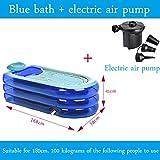 WCUI Bañera inflable alargada de gran tamaño Bañera de espesamiento de adulto Bañera de baño de plegado Bañera de plástico Baño Mu Baño Baño Barril de baño Seleccionar ( Color : Azul )