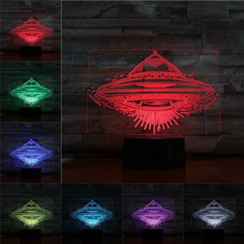Lampe Nachtlicht Led-lampe Multicolor Flash Urlaub Requisiten Weihnachtsgeschenke Für Kinder Circular Disc Aero handwerk Wohnkultur LXKEM ()