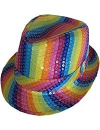 New Adults Rainbow Baker Boy Cap Pride Fancy Dress Party Hats By Angies Fashion ltd