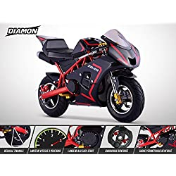 Pocket Course ZR 49 - DIAMON - Mini Moto Enfant 50cc - Rouge