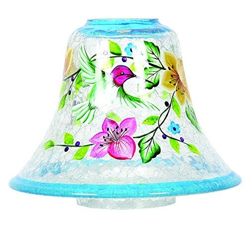 Aroma Zubehör handbemalt Kolibri Duftkerze Schatten, blau, 16cm -
