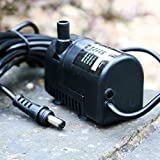 PK Green Water Fountain Submersible Pump Low Voltage 6-9V DC BP320607 Replacement Water Feature Spare Pump, 2.1mm Male Plug