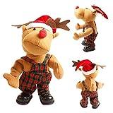 YUnnuopromi Elch Rentier Puppe, elektrisch, tanzendes Spielzeug für Partys, Kinder, Geschenk