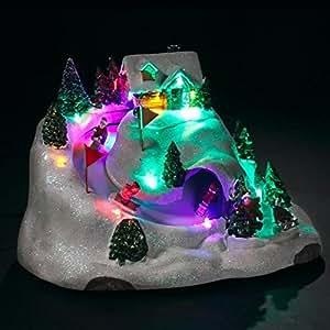 Village de Noël lumineux Descente de luge