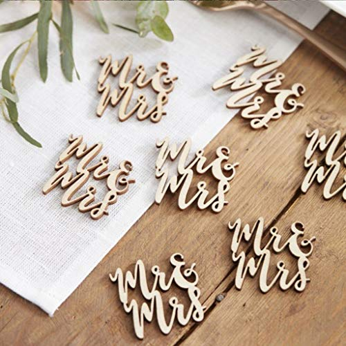 Tianranrt wedding love table confetti scatter vintage rustic party decoration wooden 15 pc