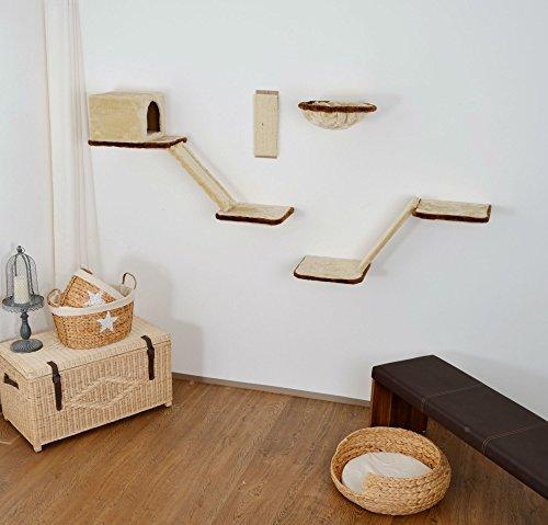 Silvio Design Katzen-Kletterwand 8-teilig beige, 21908.000