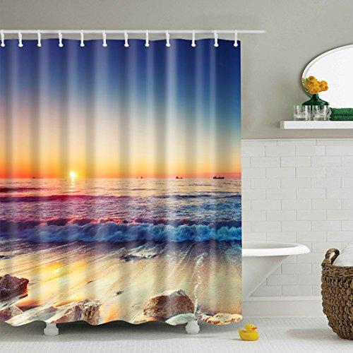 X-Labor Tenda da doccia colorata con albero, 240 x 200 cm, antimuffa, impermeabile, poliestere, tessuto, tenda per vasca da bagno, spiaggia, 240 * 200cm (BxH)