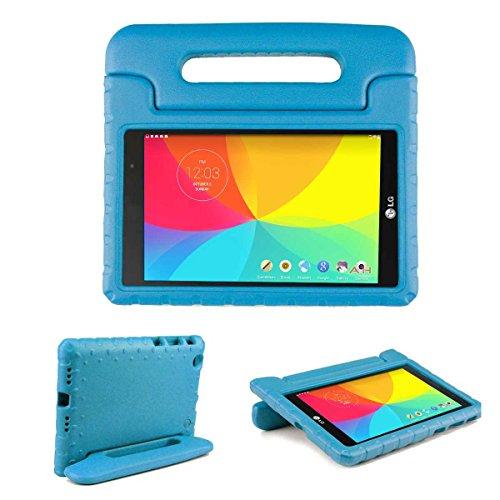 LG G Pad X 8.0 Hülle, [2-in-1 Griffige Tragehülle & Stand] Cooper Dynamo Robuste Strapazierfähige Sturz- und Kindersichere Hülle + Stand & Displayschutz -Jungs Mädchen Erwachsene Ältere Blau