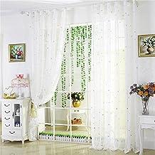 HOME UK- Un ensemble de 2 pcs Coréen Style Fils Cortin Blanc Pur Balcon Salon Chambre Rideau Produits Finis Semi-Shading ( taille : 3*2.7m (width*height) )