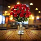 Floreros Decorativos Altos (1Pc) - 29cm Floreros Cristal - Florero Cristal Redondo - Decoración de Bodas, Floreros para la Sala de Estar, Fiesta Evento - Regalo de Bodas y Decoración del Hogar
