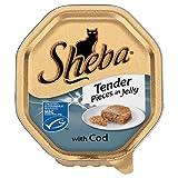 Sheba Fach Ausschreibungs Stück in Gelee mit Kabeljau 100g