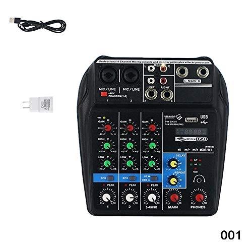 ZREAL Mini USB Audio Mixer Verstärker Verstärker Bluetooth Board 48V Phantomspeisung 4 Kanäle für DJ-Karaoke -