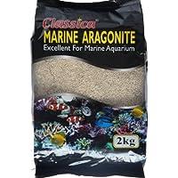 Classica 2kg 1mm arena Coral Ocean Marino Aragonito Sustrato de grava del tanque de peces de acuario de coral Cichlid Malawi Sands