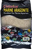 Classica, 5 mm, 2 kg, colore: sabbia, mare Acquario con pesce, motivo oceano-Aragonite ghiaia substrato reef cichlid sands malawi