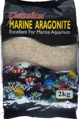 Classica 5kg 3mm Coral Sand Ocean Marine Aquarium Fisch Tank Aragonit Farbkies Colorkies Bodengrund Reef für Buntbarsche Sands (Coral Sand Coral)