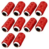 Hogar de bordado rojo herramienta de rosca Bobina de cordaje Costurero 10 Carretes