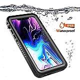 iPhone XS Max Wasserfeste Hülle, IP68 Certified Outdoor Wasserdichte Anti-Kratzer Staubdichte Stoßfest Handyhülle Robuste Full Body Schutzhülle mit Displayschutzfolie Unterwasser Tasche Schwarz