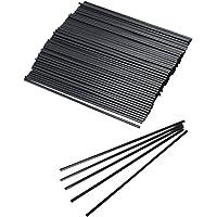 Collins Straws Black 8 Inch - Box of 1000 | Tall Drinking Straws, Hiball Drinking Straws