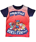 #8: Planet Superheroes Paw Patrol Practice Makes Pawfect Red Ombre T-Shirt
