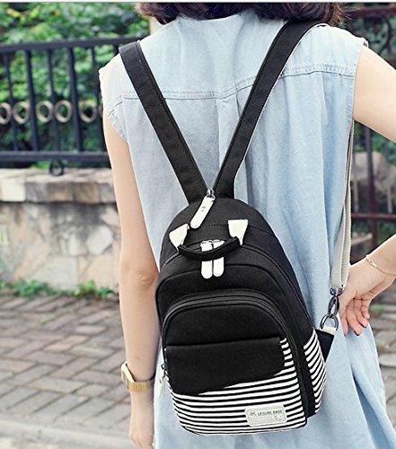 OPSUN , Damen Rucksackhandtasche Taille Unique Schwarz