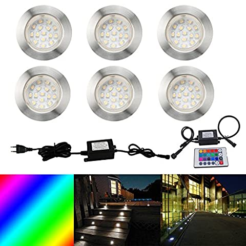 FVTLED 6x Lampe LED Encastrable pour Terrasse Couloir IP67 DC12V