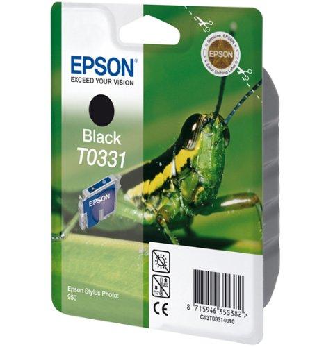 Epson T0331 Tintenpatrone Grashüpfer, Singlepack, schwarz (Schwarze Heuschrecken)