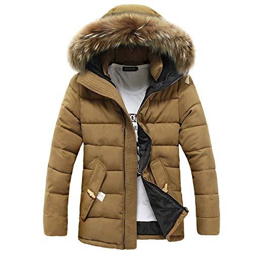 Riou Herren Steppjacke Winterjacke Männer Winter Wärme Beiläufige mit Kapuze Zip Dicke - Steppjacke Herren Puma
