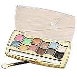 Lidschatten Palette 12-Farben-Perlglanz-Multicolor-Eyeshadow Makeup Augenschatten Farbpalette Natürliche Schimmer Kosmetik Profi Schönheits Mit Lidschattenpinsel(1)