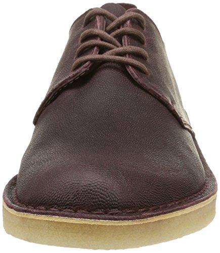 Clarks Originals Desert London, Derby Homme Rouge (Wine Leather)