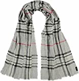 FRAAS Damen Stola Karo-Design, Grau (Mid Grey 960) One Size