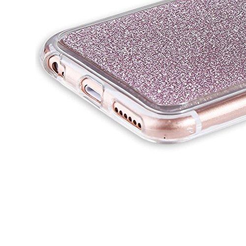 Custodia Per iPhone 6 Plus / 6S Plus,Funyye Glitter Brillare Rosa Graduale Cambiano Colore Stile Cover [Con Pellicola Protettiva] Morbido Sottile Silicone Gomma Gel TPU Protettivo Caso Originale Antis Design #03