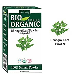 Indus Valley Organic Bhringraj Powder for hair growth and conditioning (100gm, FDRABO245)