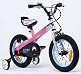 Royalbaby Button Girl's Freestyle Bike Bicycle, matt-Pink, 14""