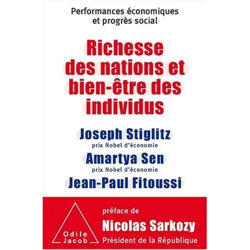 Richesse des nations et bien-être des individus : performances économiques et progrès social