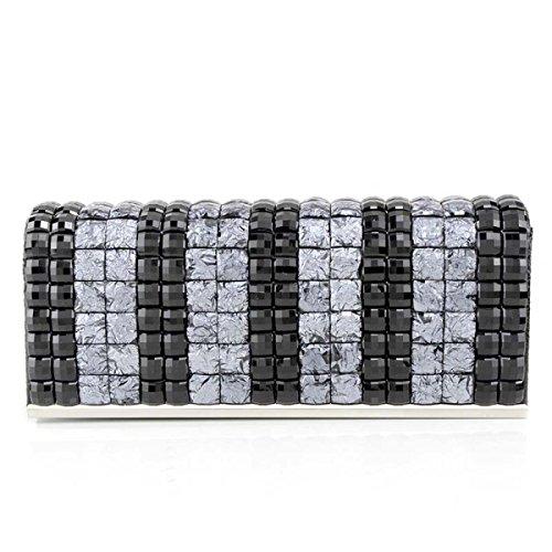 Borsa Da Donna Banchetto Diamante Della Moda Nuove Ragazze Borsa Cellulare Black