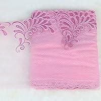 Tela bordada para vestido de novia de 15 yardas, adornos florales, ganchillo para bricolaje, costura de 24 cm
