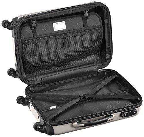 HAUPTSTADTKOFFER - Alex - 2 x Handgepäck Hartschale glänzend, TSA, 55 cm, 42 Liter, Graphit-Apfelgrün Graphit-Schwarz