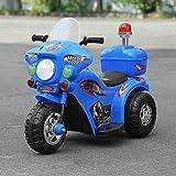 KinshopS Kinder Elektroauto Motorrad Elektro Kindermotorrad Kinderauto Elektrofahrzeug mit Hellen Frontscheinwerfer Musical und Horn Sound-Effekt (Blau)