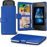 (Blue) Alcatel Idol 3C Hülle Abdeckung Cover Case schutzhülle Tasche Verstellbarer Feder Mappe Identifikation-Kartenhalter-Kasten-Abdeckung ONX3