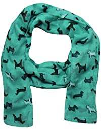 Scarves Dogs, Dachshund, Fox Terriers, Scotty Dog Print Scarf Women Shawl Large Size