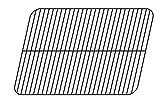 Music City Metals 50111 Grillrost aus emailliertem Stahl für Gasgrills der Marke Manhattan - Schwarz