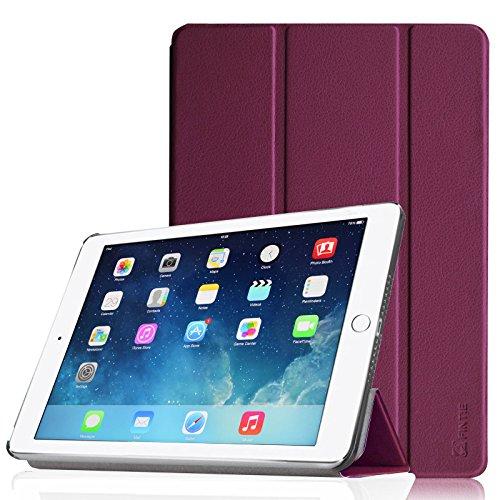 Fintie iPad Air 2 Hülle - Ultradünn Superleicht Smart Cover Schutzhülle Tasche Case mit Ständer und Auto Sleep / Wake Funktion für Apple iPad Air 2 (iPad 6 6th Generation), Lila
