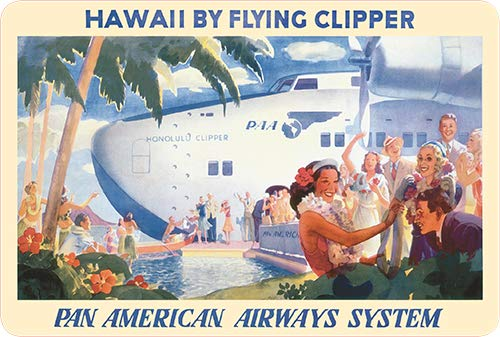 Lawler Pacifica Island Art Vintage Postkarten-Set (30) - Hawaii Clipper Pan Am -