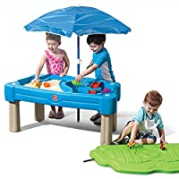 Step2 Cascading Cove Sand & Water Table with Umbrella | Kids Sand & Water Play Table