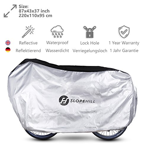 Funda de Bicicleta Transpirable – Slopehill Impermeable 210D Oxford...