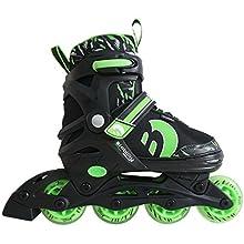 Best Sporting Inline Skates, Größe, Farbe: Grün/Schwarz, Pattini in Linea, Misura, Colore: Verde/Nero Unisex, 38-41