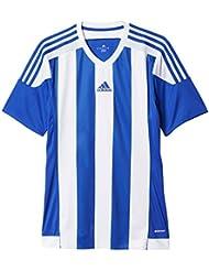 adidas Striped 15 Camiseta, Hombre, Azul Oscuro / Blanco, L