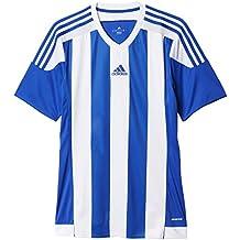 Adidas Striped 15 Camiseta de Equipación, Niños, (Azul Claro/Blanco),